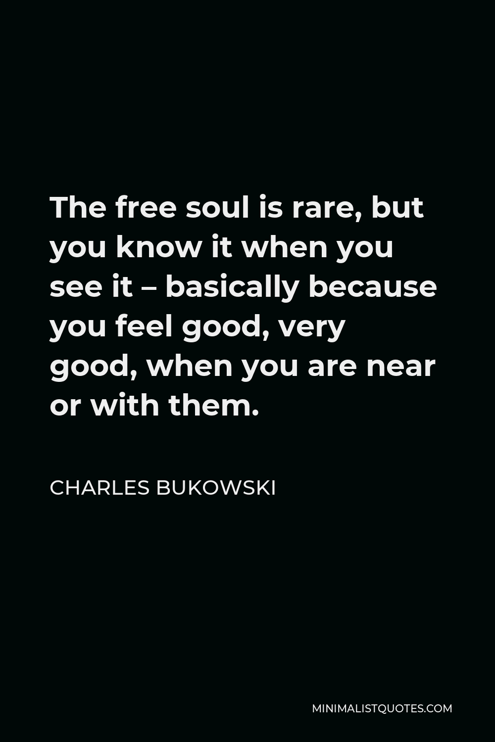 The Free Soul is Rare Charles Bukowski Quote Necklace
