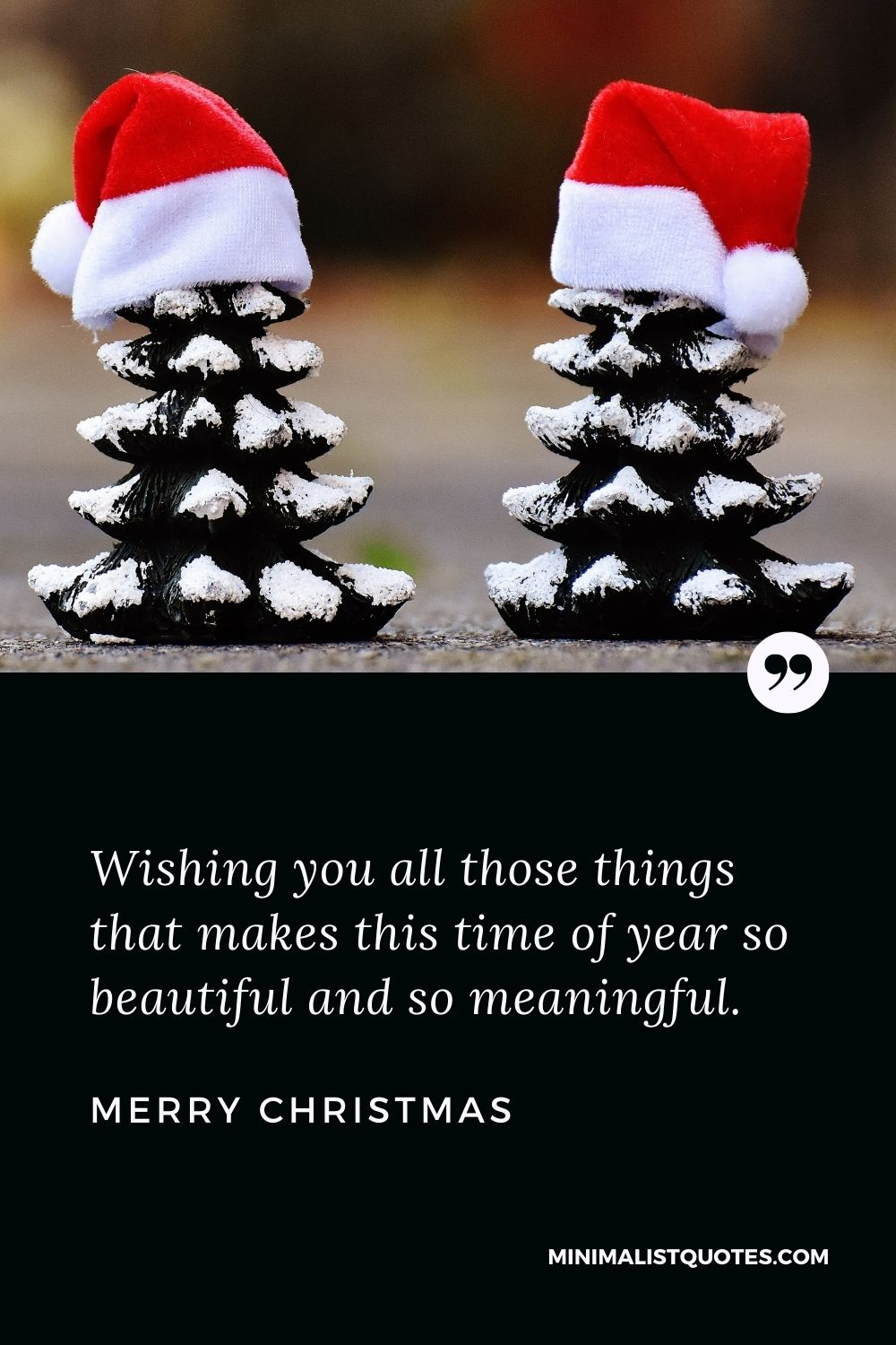 Merry Christmas Wishes - Wishing you all those things that makes this time of year so beautiful and so meaningful.
