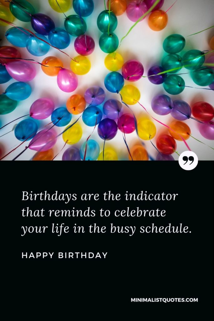 Happy Birthday Wishes - Birthdays are the indicator that reminds to celebrate your life in the busy schedule.