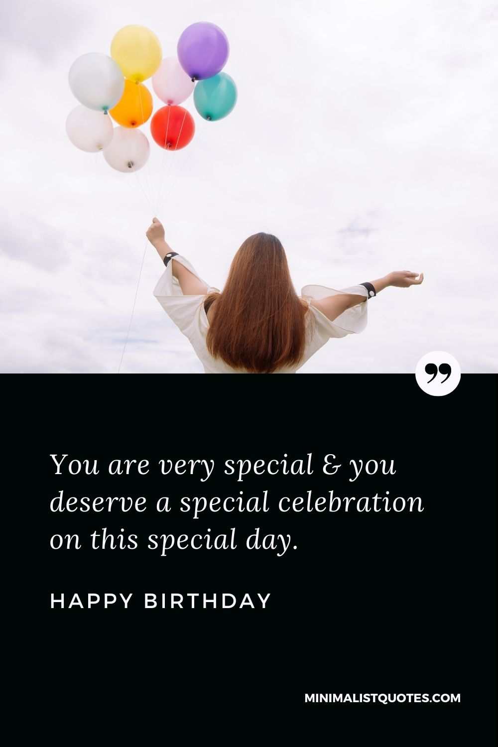 Happy Birthday Wishes - You are very special & you deservea special celebration on this special day.