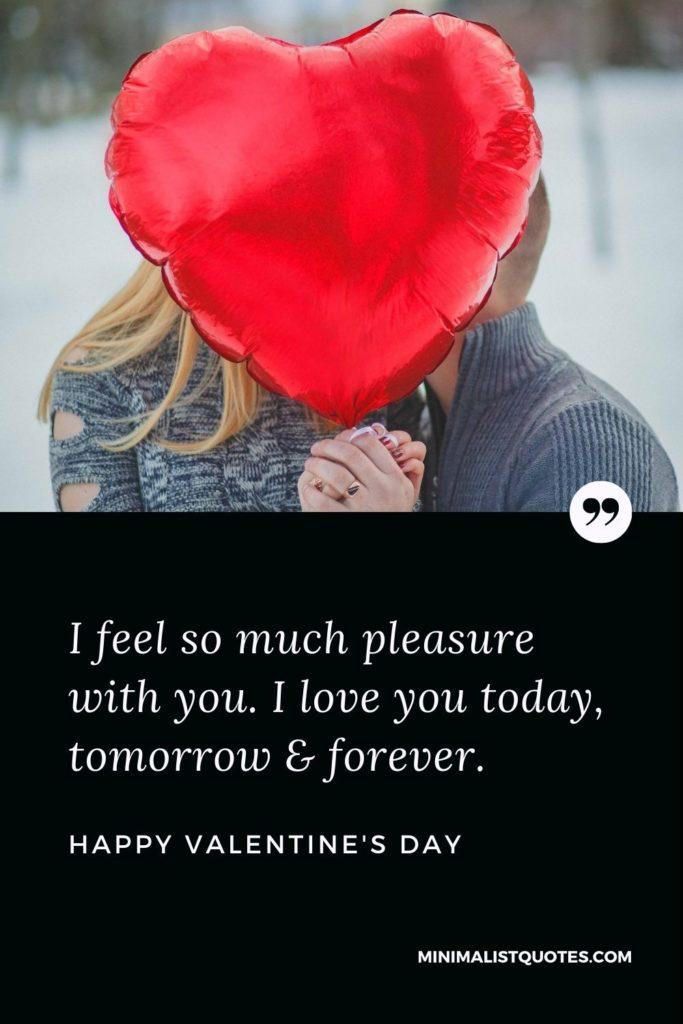 Happy Valentine's Day - I feelso much pleasure with you. I love you today, tomorrow & forever.