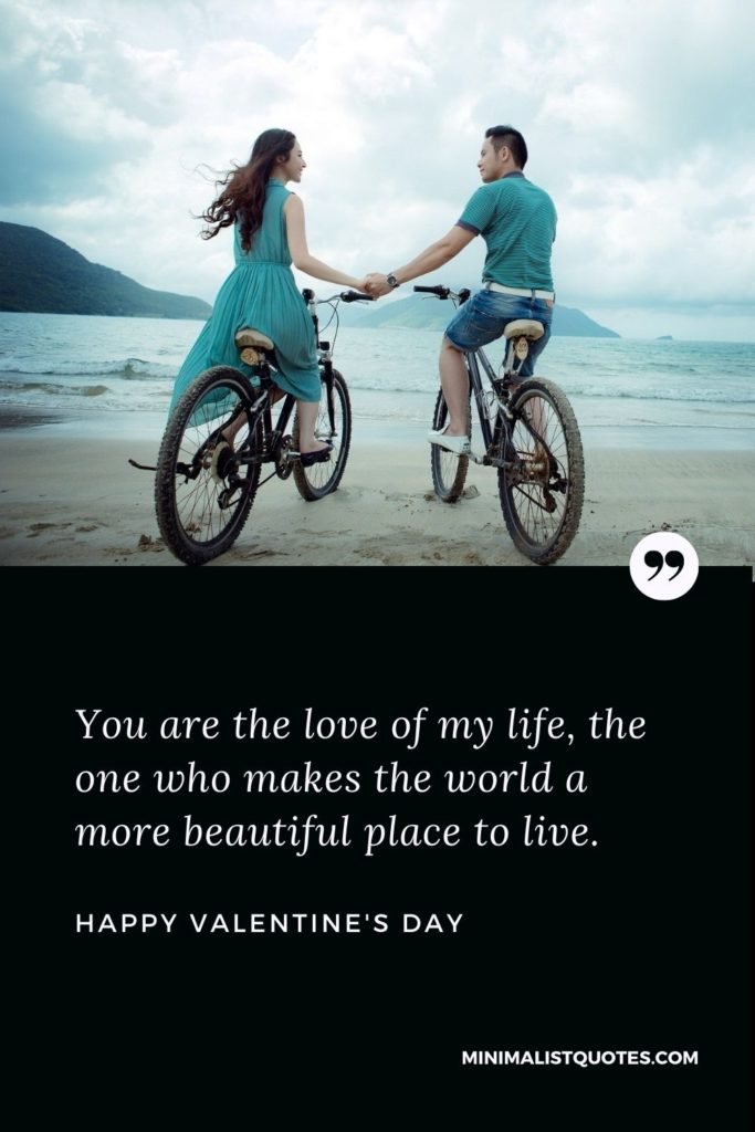 Happy Valentine's Day Wish - You are the love of my life, the one who makes the world a more beautiful place to live.