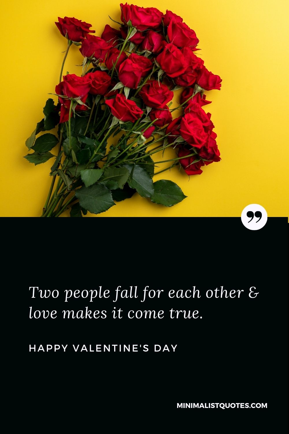 Happy Valentine's Day Wish - Two people fall for each other & love makes it come true.