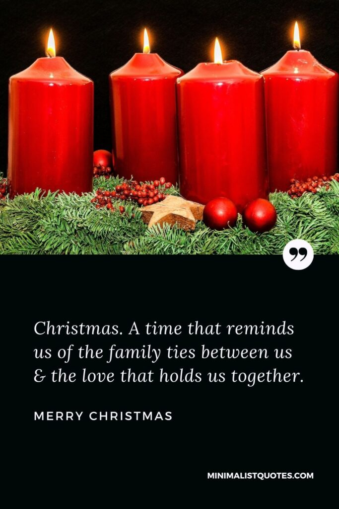 Merry Christmas Wish - Christmas. A time that reminds us of the family ties between us & the love that holds us together.