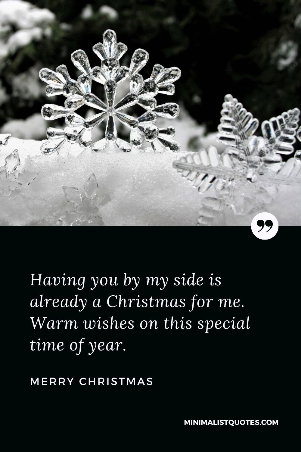 Merry Christmas Wish - Having you by my side is already a Christmas for me. Warm wishes on this special time of year.
