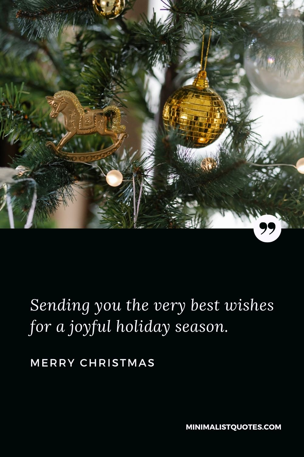 Merry Christmas Wish - Sending you the very best wishes for a joyful holiday season.