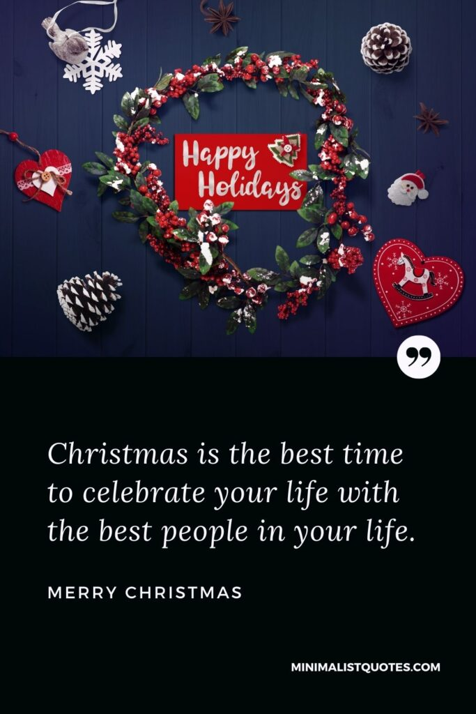 Merry Christmas Wish - Christmas is the best time to celebrate your life with the best people in your life.