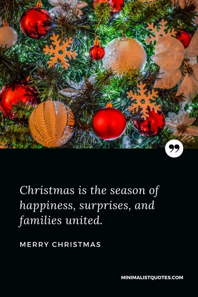 Merry Christmas Wish - Christmas is the season of happiness, surprises, and families united.