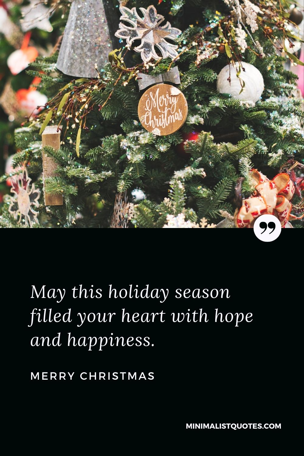 Merry Christmas Wish - May this holiday season filled your heart with hope and happiness.