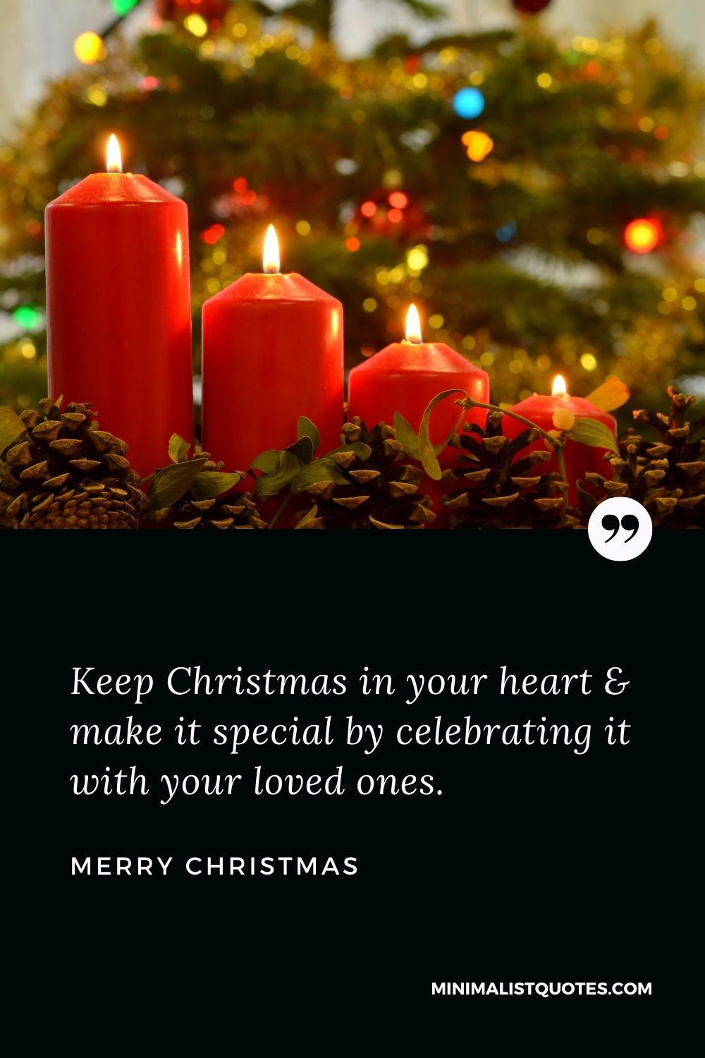 Merry Christmas Wish - Keep Christmas in your heart & make it specialby celebratingit with your lovedones.