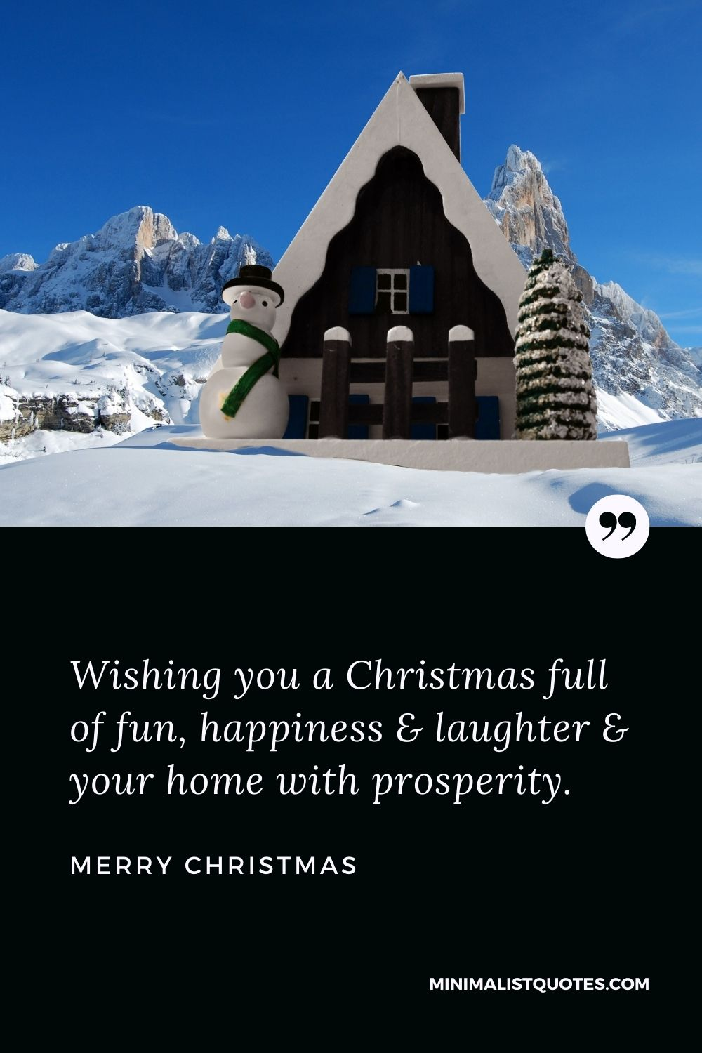 Merry Christmas Wish - Wishing you a Christmas full of fun, happiness & laughter & your home with prosperity.