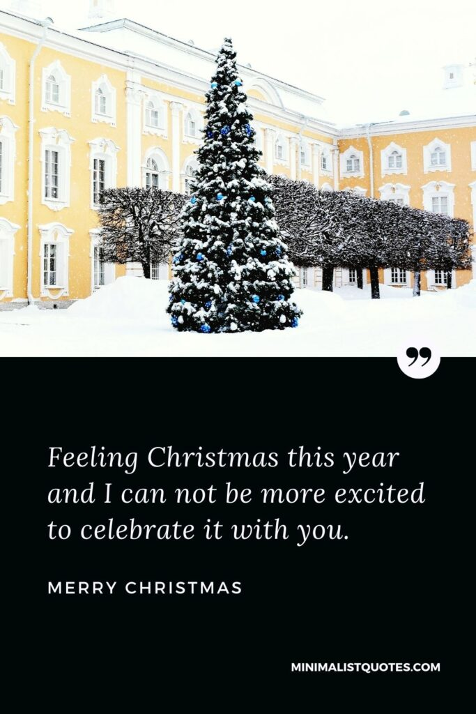 Merry Christmas Wish - Feeling Christmas this year and I can not be more excited to celebrate it with you.