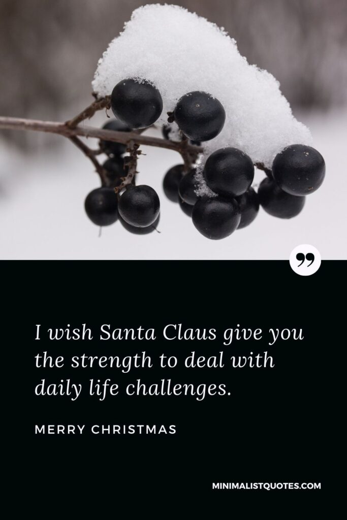 Merry Christmas Wish - I wish Santa Claus give you the strengthto deal with daily life challenges.
