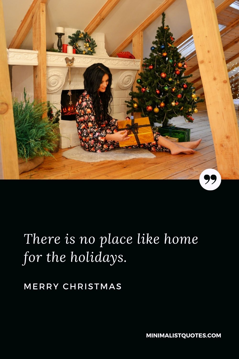 Merry Christmas Wish - There is no place like home for the holidays.