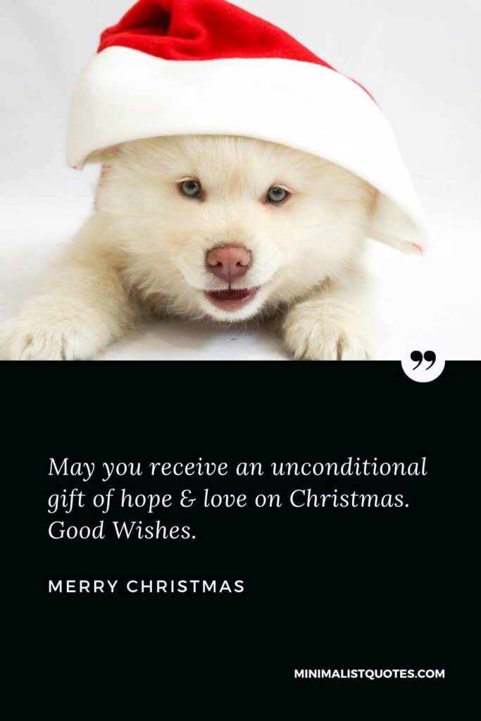 Merry Christmas Wish - May you receivean unconditional gift of hope & love on Christmas. Good Wishes.