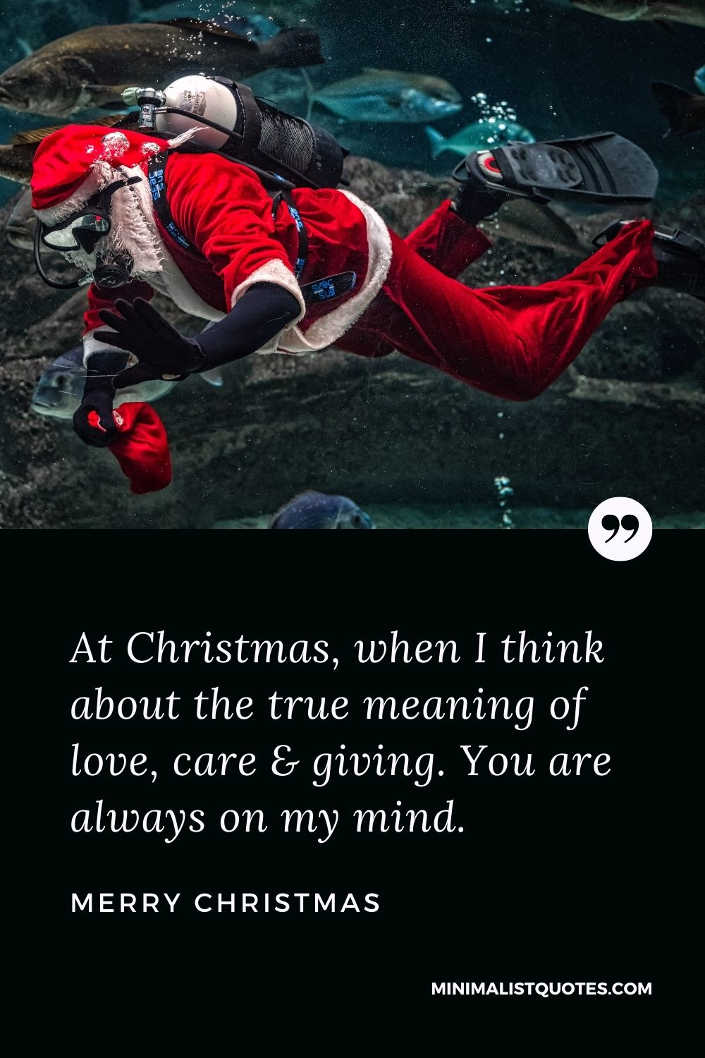Merry Christmas Wish - At Christmas, when I think about the truemeaning of love, care & giving. You are always on my mind.