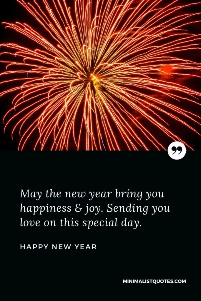 New Year Wish - May the new year bring you happiness & joy. Sending you love on this special day.