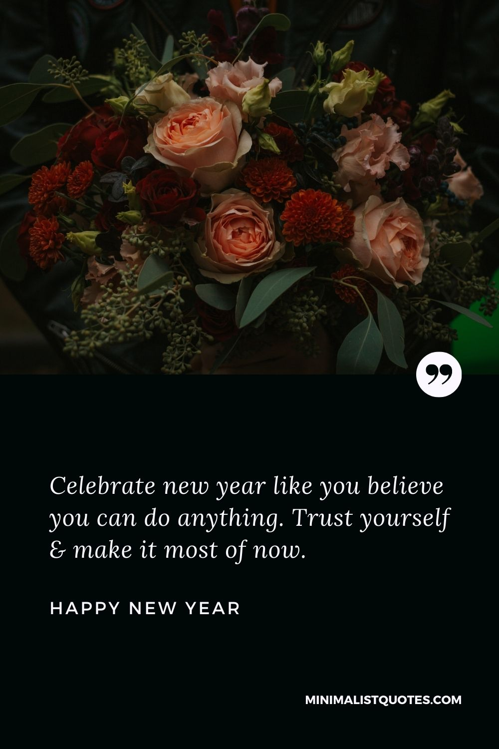 New Year Wish - Celebrate new year like you believe you can do anything. Trust yourself & make it most of now.