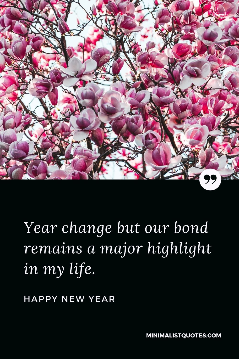 New Year Wish - Year change but our bond remains a major highlight in my life.