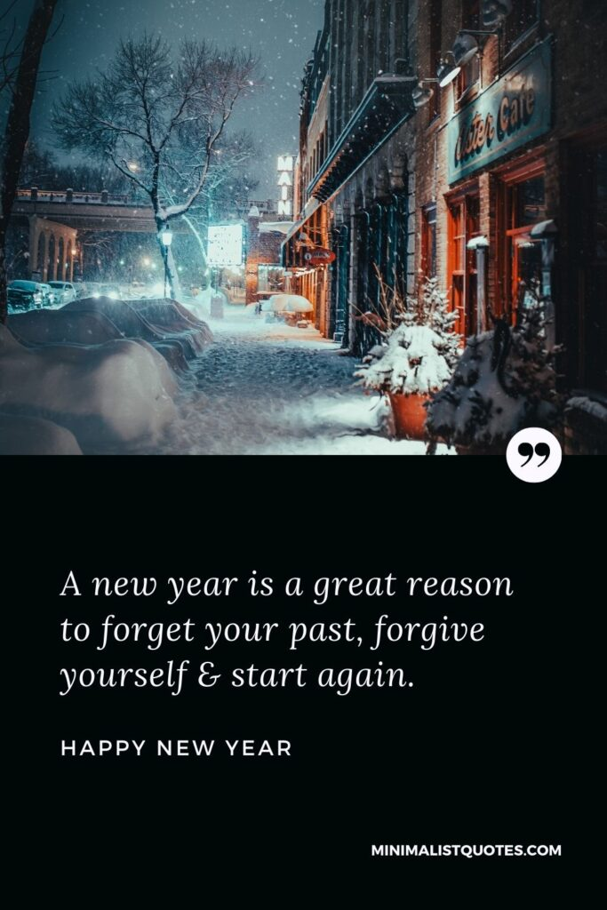 New Year Wish - A new year is a great reason to forget your past, forgive yourself & start again.