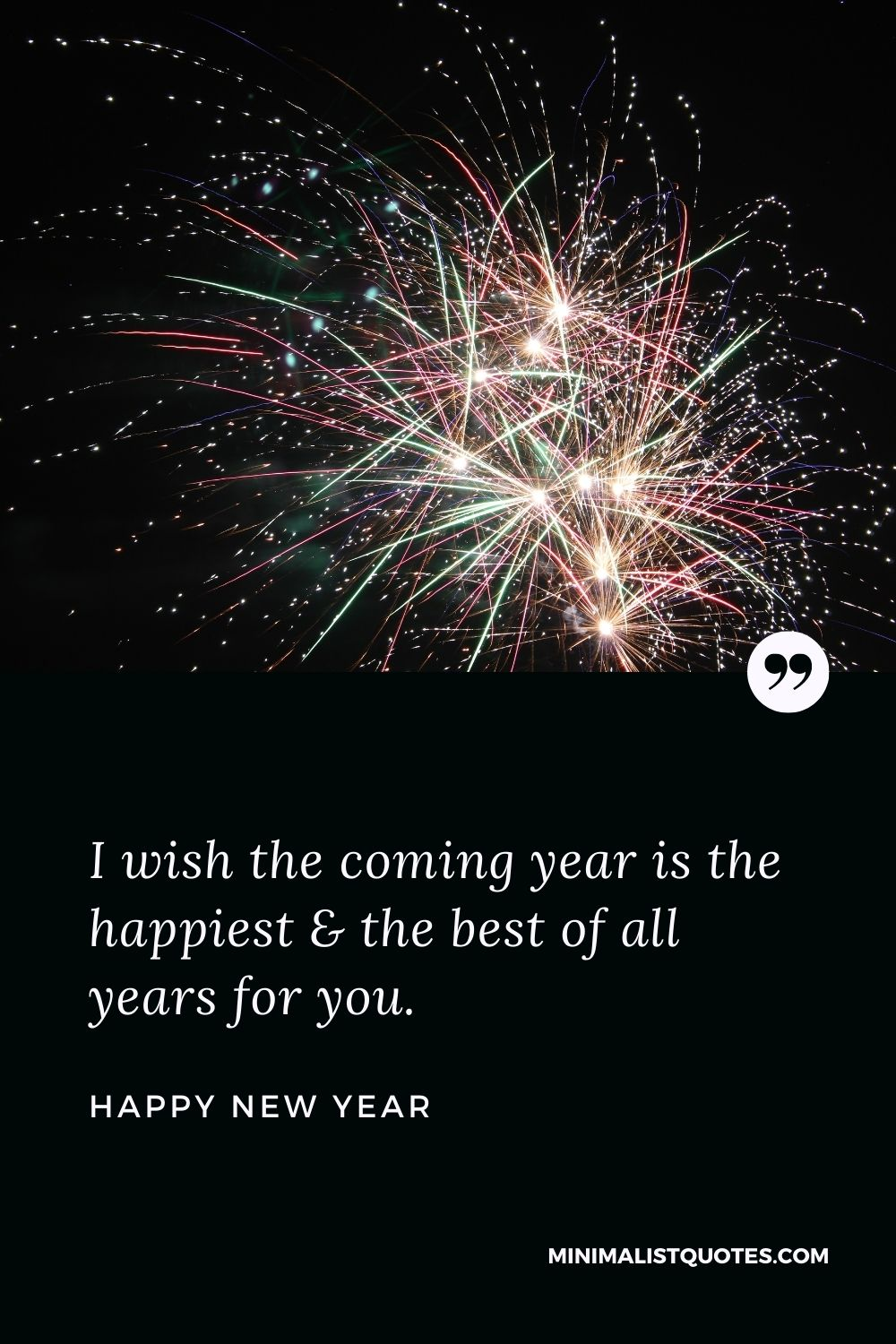 New Year Wish - I wish the coming year is the happiest & the best of all years for you.