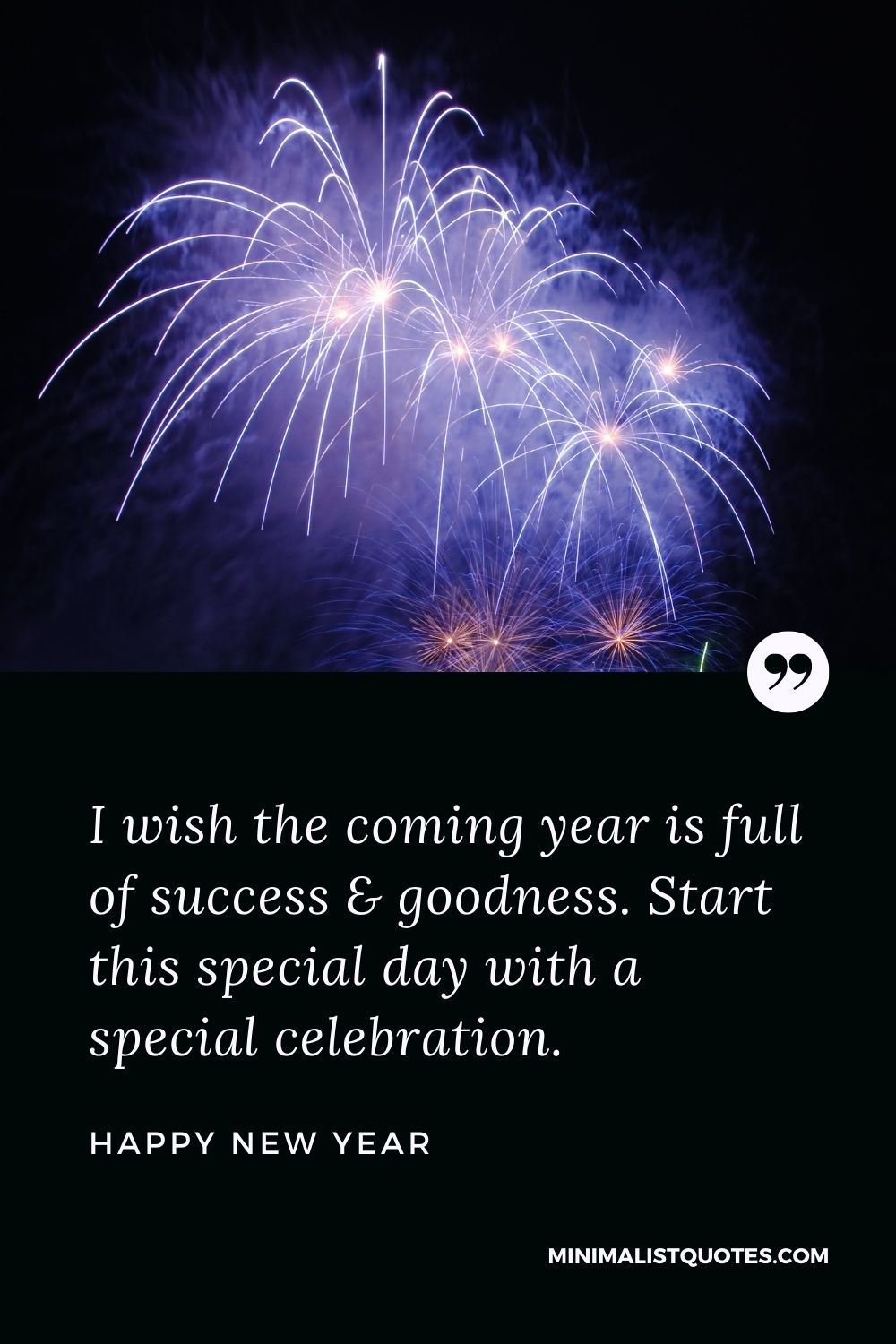 New Year Wish - I wish the coming year is full of success & goodness. Start this special day with a special celebration.