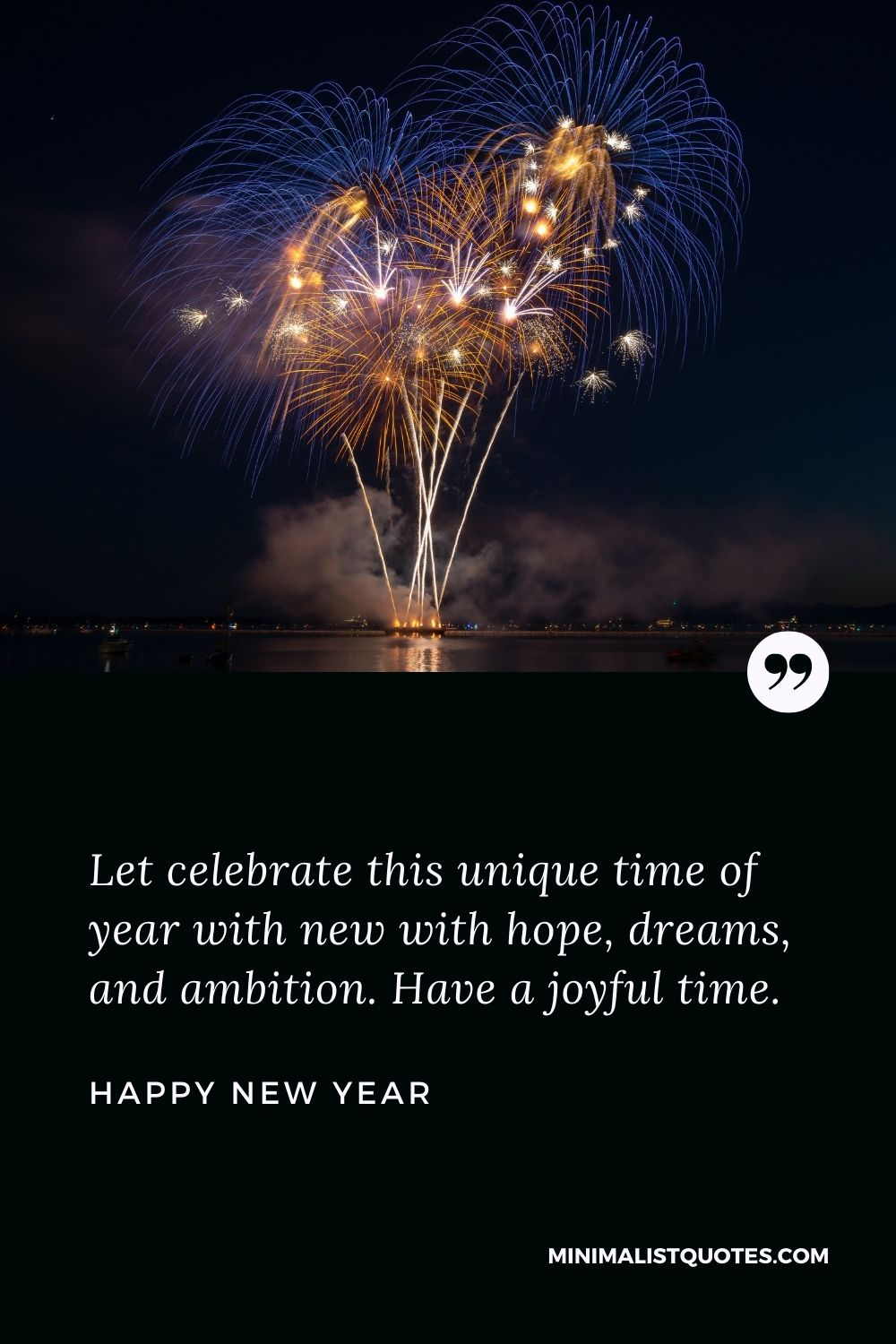 New Year Wish - I wish the coming year bring everything in life you deserve. May you have many reasons to smile.
