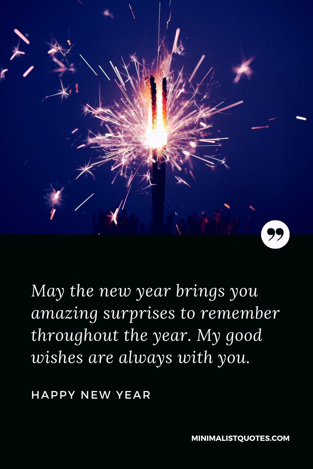New Year Wish - May the new year brings you amazing surprises to remember throughout the year. My good wishes are always with you.