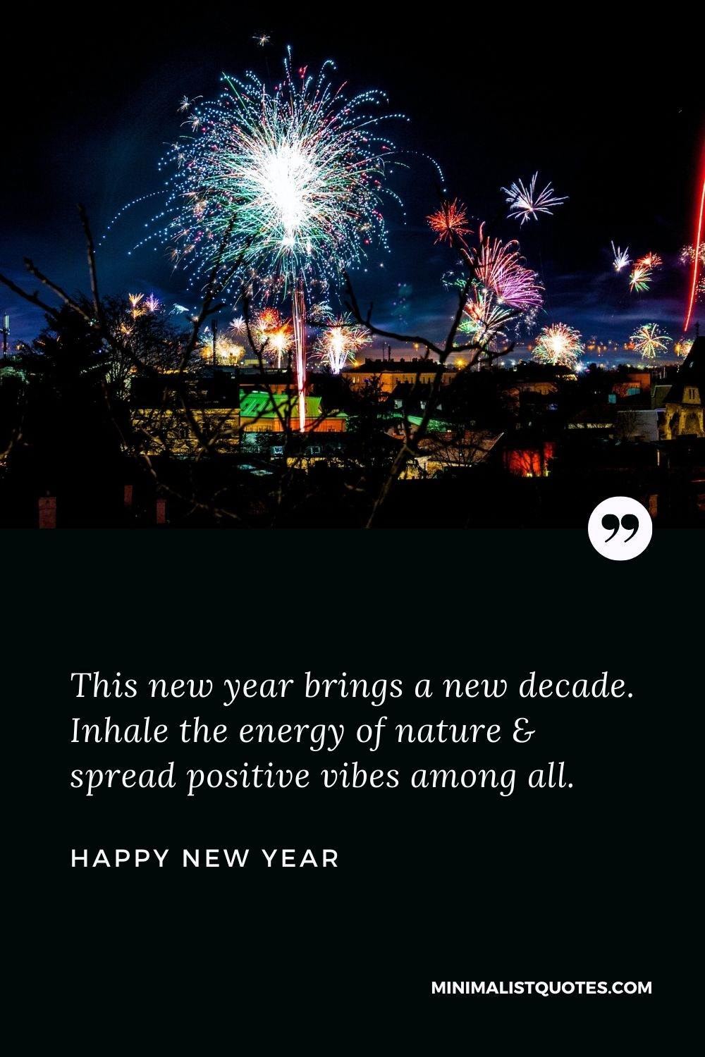New Year Wish - This new year brings a new decade. Inhale the energy of nature & spread positive vibes among all.