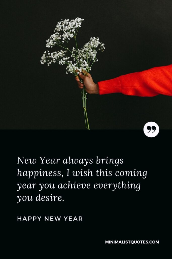 New Year Wish - New Year always brings happiness, I wish this coming year you achieve everything you desire.