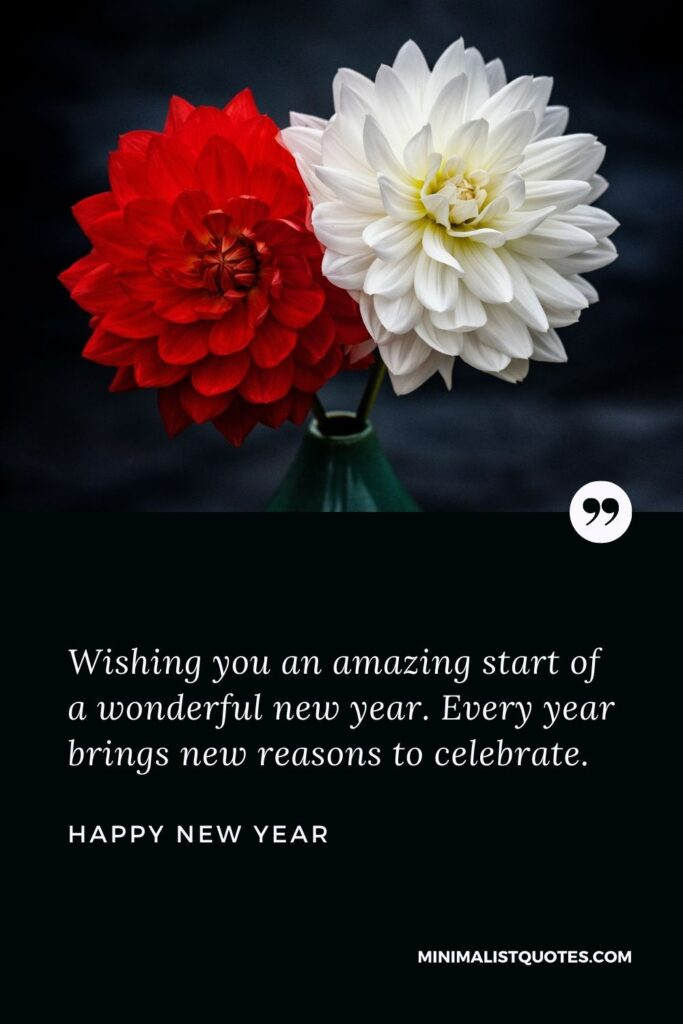 New Year Wish - Wishing you an amazing start of a wonderful new year.Every year brings new reasons to celebrate.