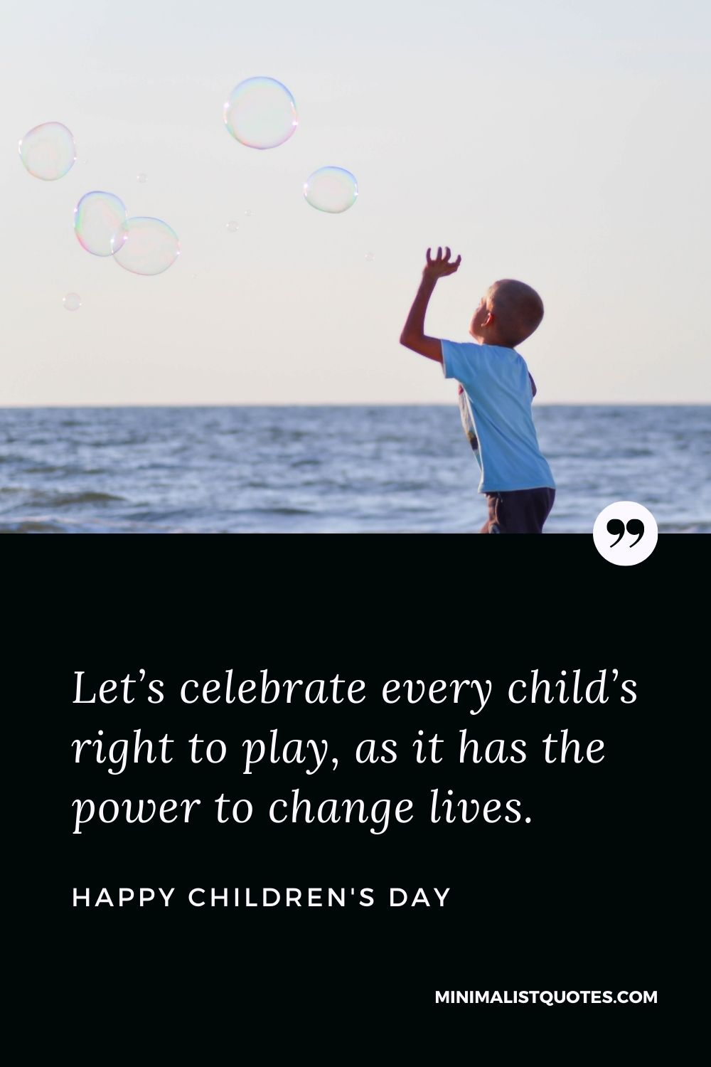 Children's Day Wish & Message With HD Image: Let's celebrate every child's right to play, as it has the power to change lives. Happy Children Day!