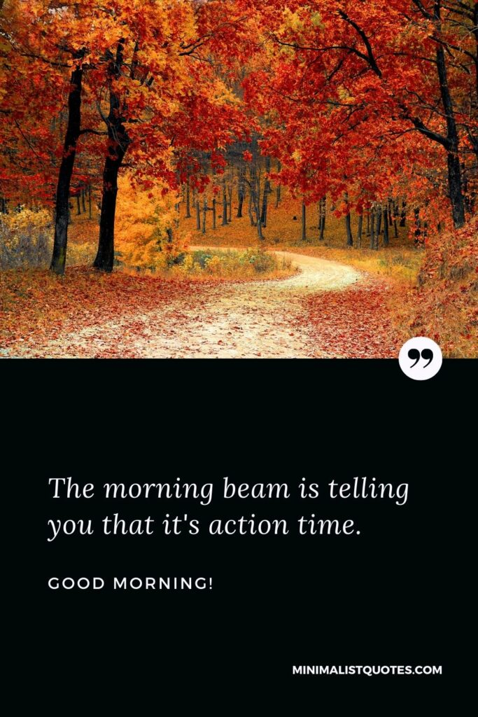 Good Morning Wish & Message With HD Image: The morning beam is telling you that it's action time.