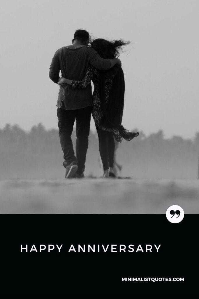 Happy Anniversary Wish & Card With Image: #couplewalk