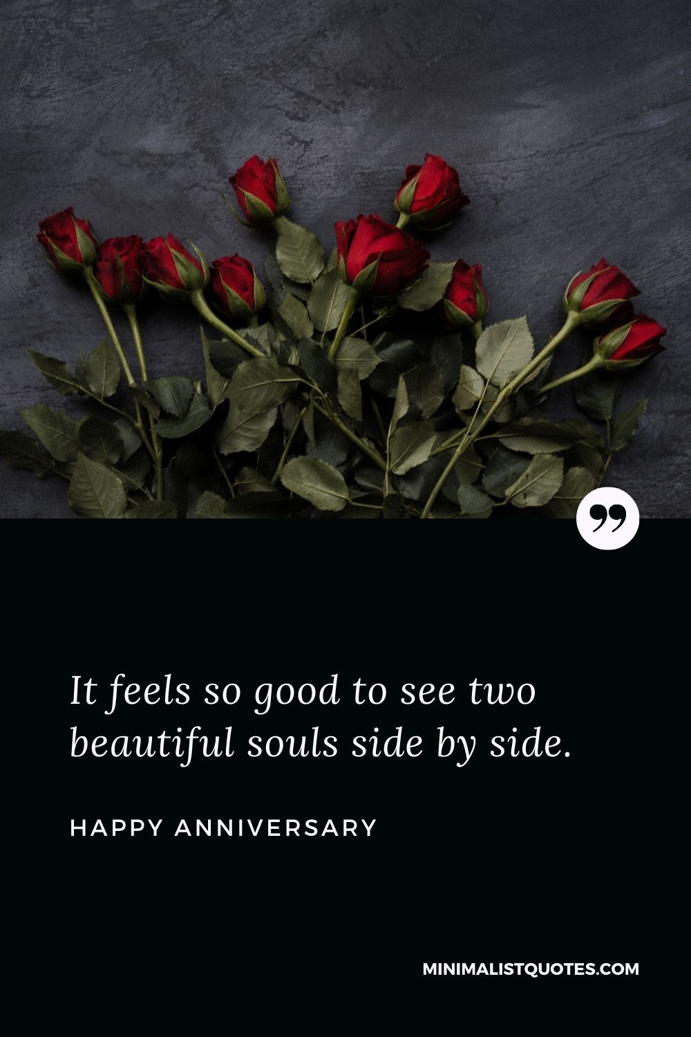 Anniversary Wish & Message With HD Image: It feels so good to see two beautiful souls side by side.