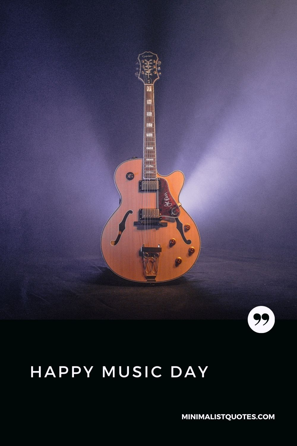 Happy World music day HD Poster Image to share with your loved ones: #guitarimage