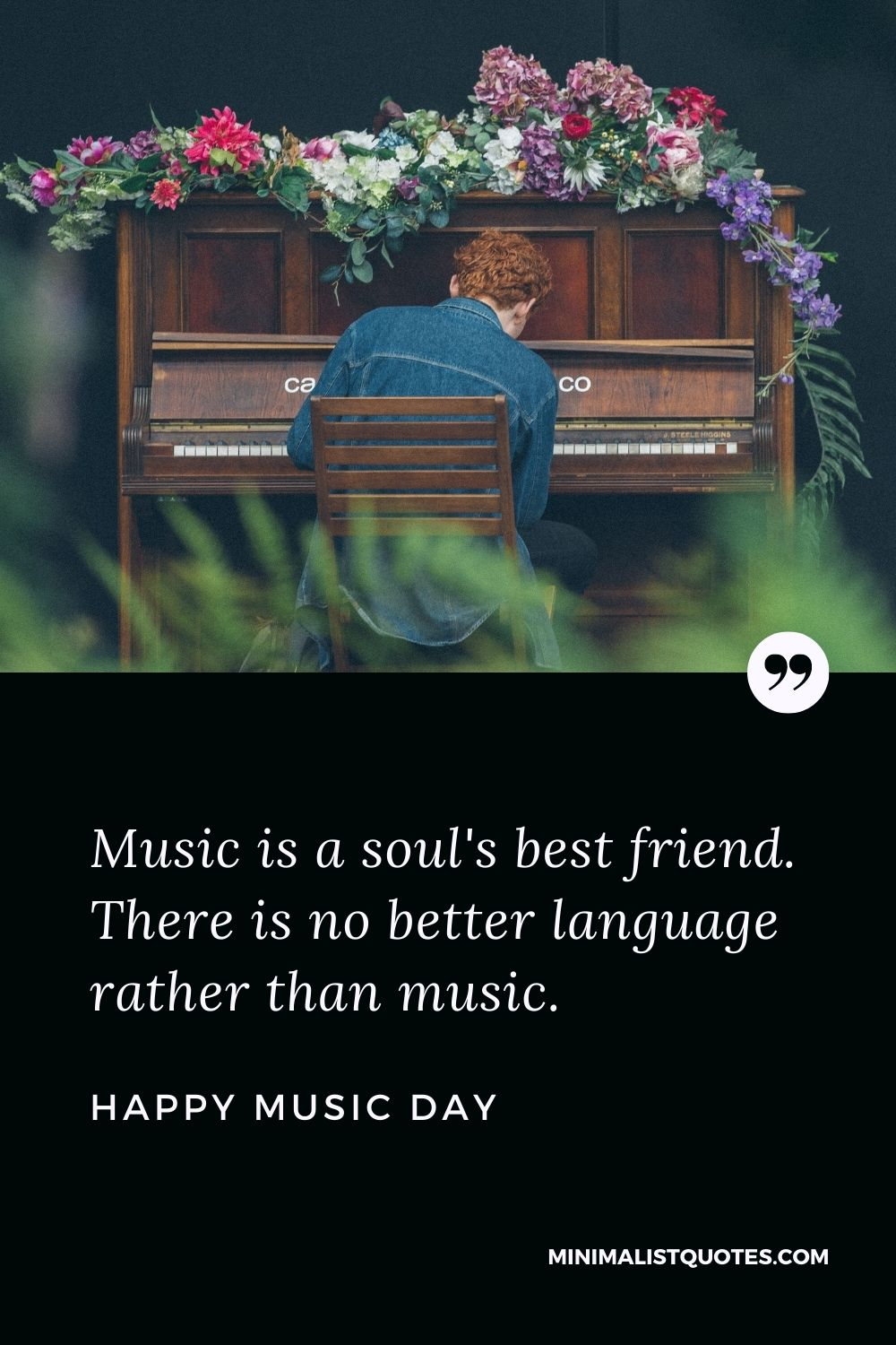 World music day wish & HD Poster Image: Music is a soul's best friend. There is no better language rather than music. Happy Music Day!