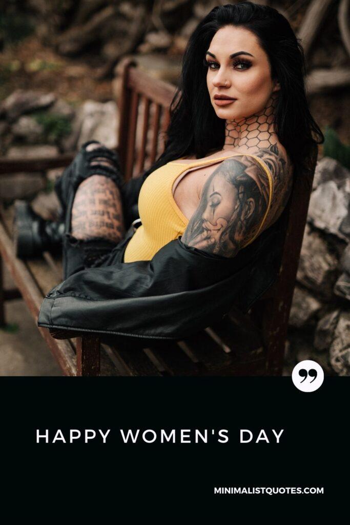 Happy Women's Day Wish & HD Poster Image: #stylishwoman