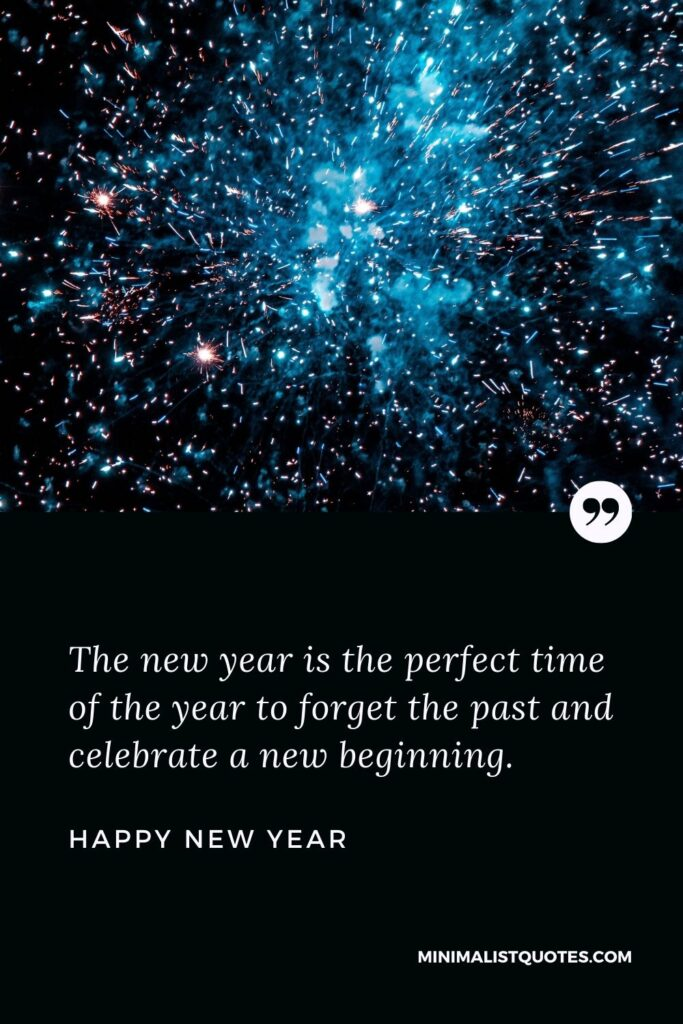 New Year Wish & Message With HD Image: The new year is the perfect time of the year to forget the past and celebrate a new beginning. Happy New Year!