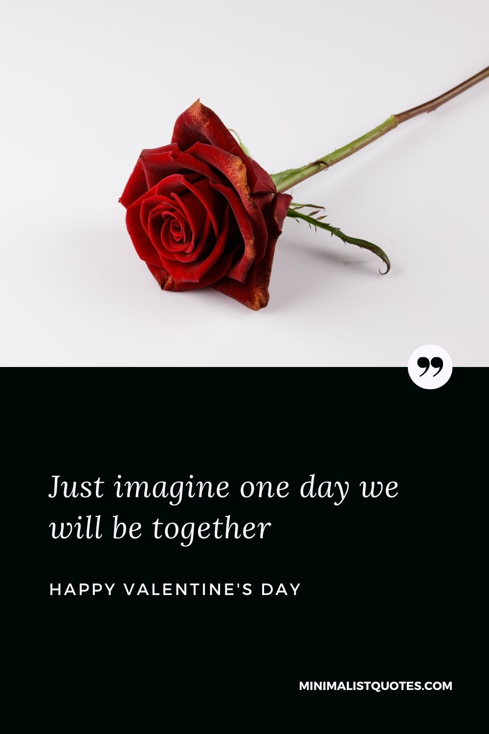 Valentine's Day Wish & Message With HD Image: Just imagine one day we will be together. Happy Valentine's Day!
