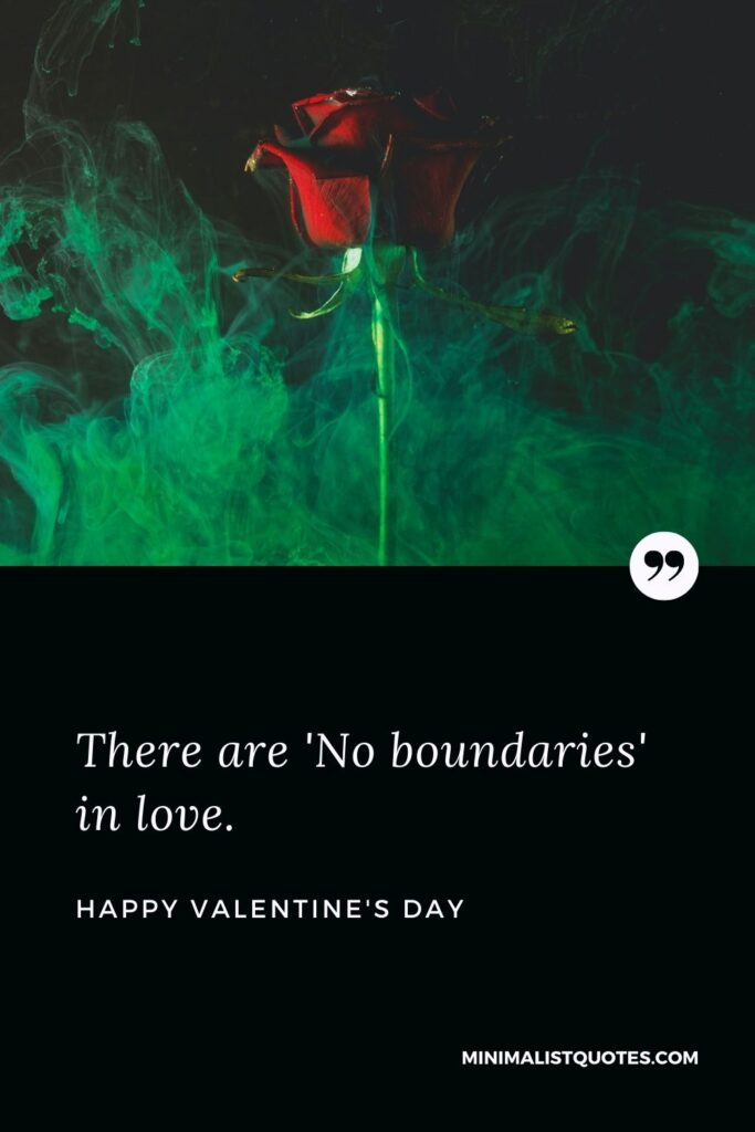 Valentine's Day Wish & Message With HD Image: There are 'No boundaries' in love. Happy Valentine's Day!