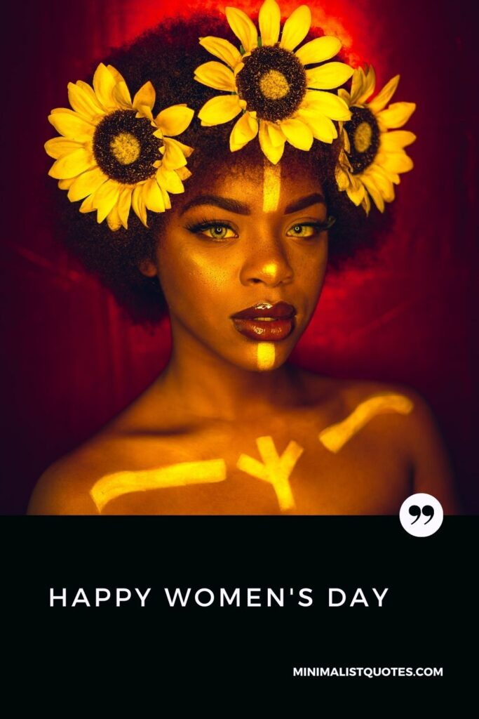 Happy Women's Day Wish, poster & card: #flowers