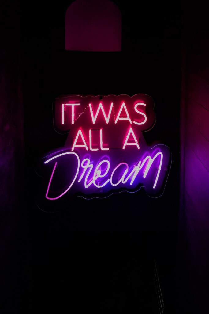 Monday Motivation Quote & Message with Image: It was all a dream. Happy Monday!