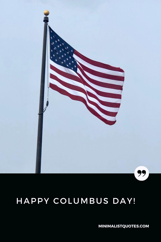 Happy Columbus Day wish with image: #americaflag