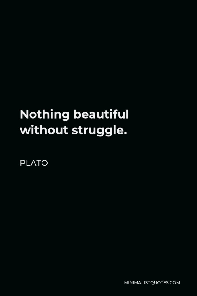 Plato Quote - Nothing beautiful without struggle.