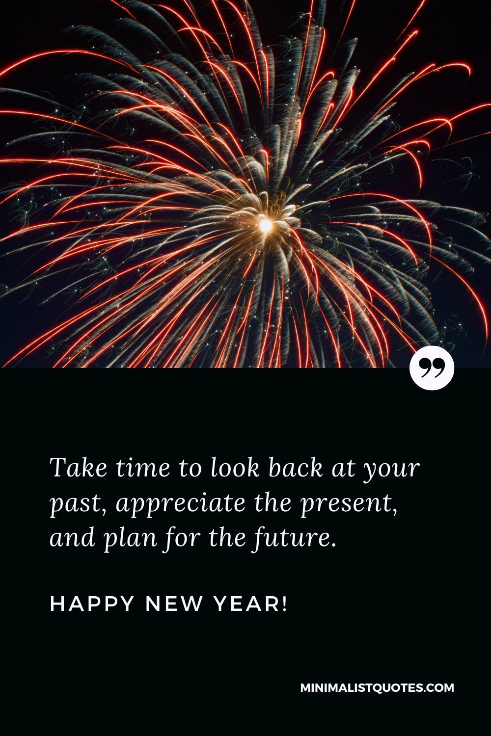 Happy new year 2021 quotes: Take time to look back at your past, appreciate the present, and plan for the future. Happy New Year!